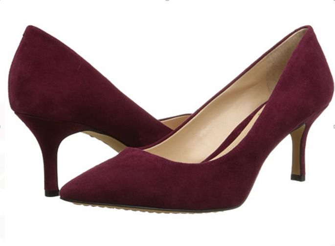 e943a148122 Nine West Women's Xeena Nubuck Dress Pump (wine) 2.5 inch heel Shoes ...