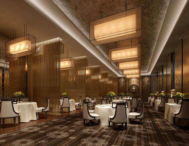 Modern Banquet Hall At The Restaurant Hall Interior Design Hall Interior Function Hall