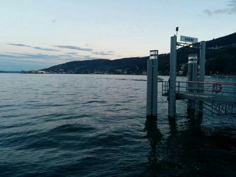 Imbarcadero di #Baveno al tramonto ( #Verbania #Piedmont #Italy )