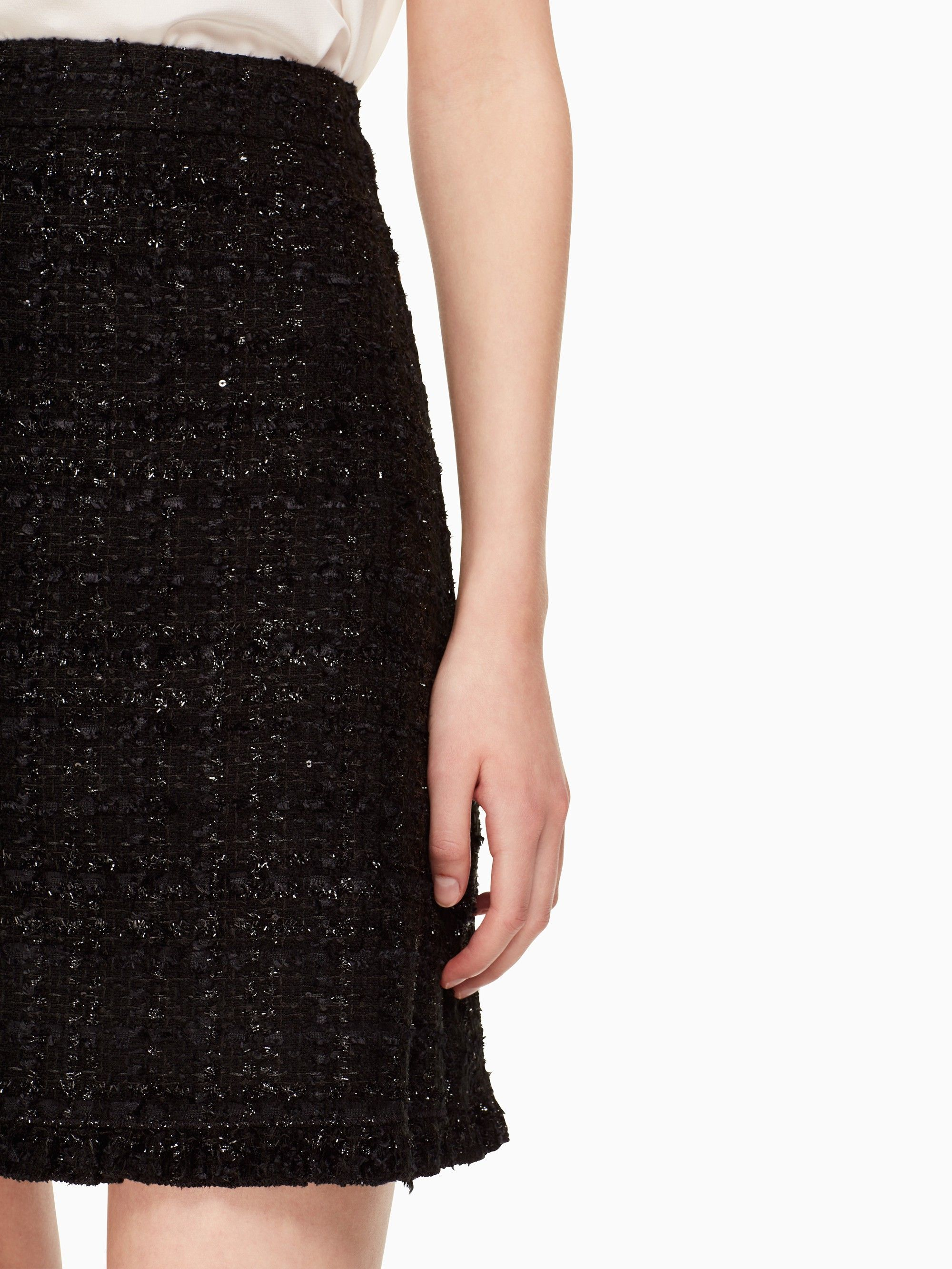 edd1ee115a5c76 Kate Spade Sparkle Tweed Skirt - 14 | Products | Tweed skirt, Skirts ...