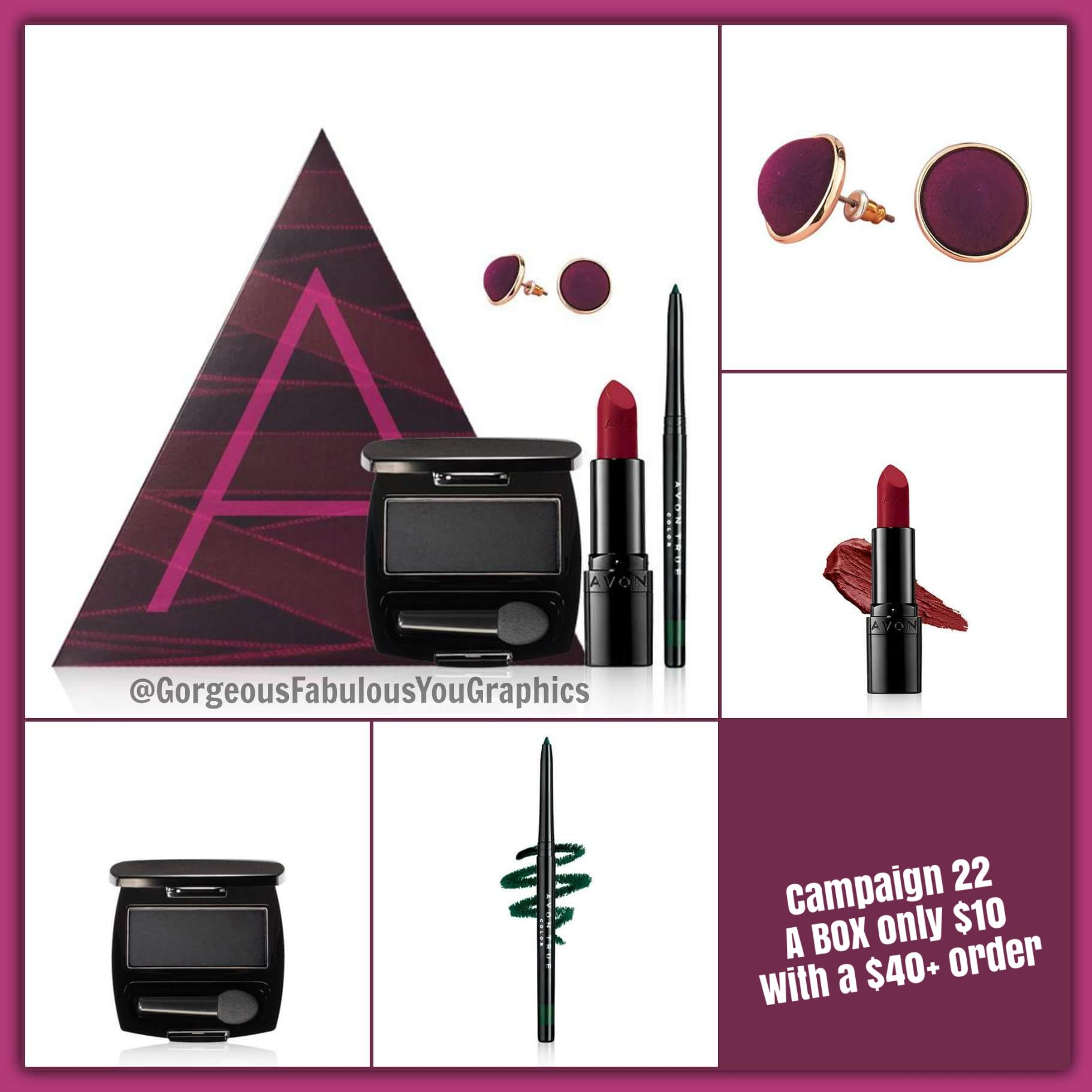 Campaign 22 A BOX for only 10 with a 40+ Avon order