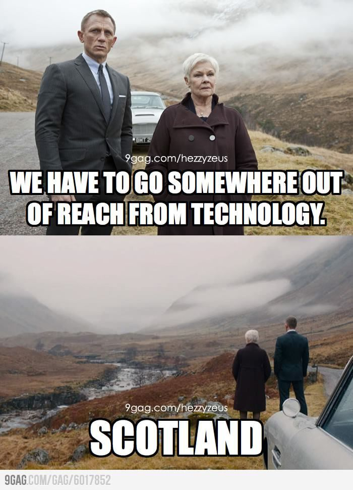 A Scottish friend told me he was sad after watching Skyfall.