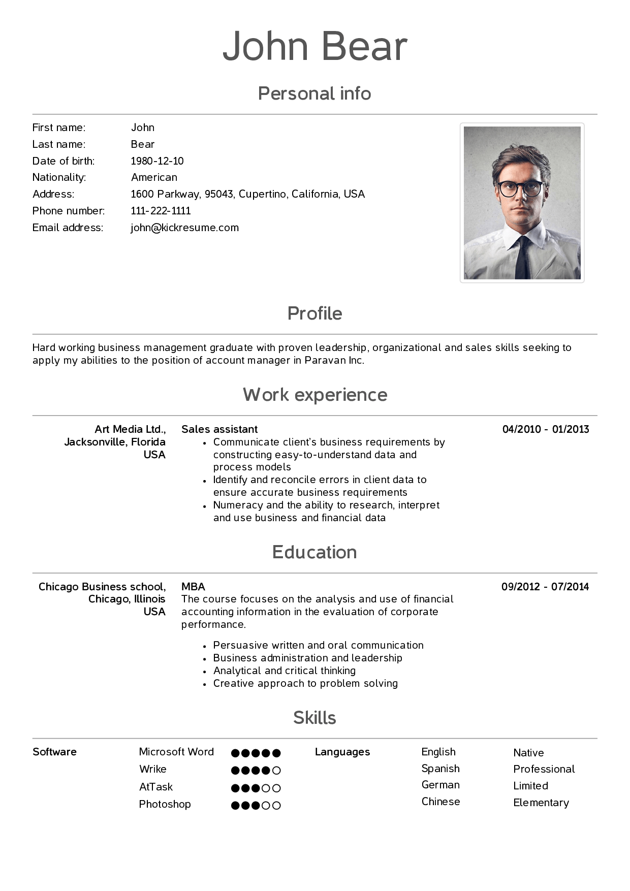preview Sales skills, Cover letter template, Perfect resume