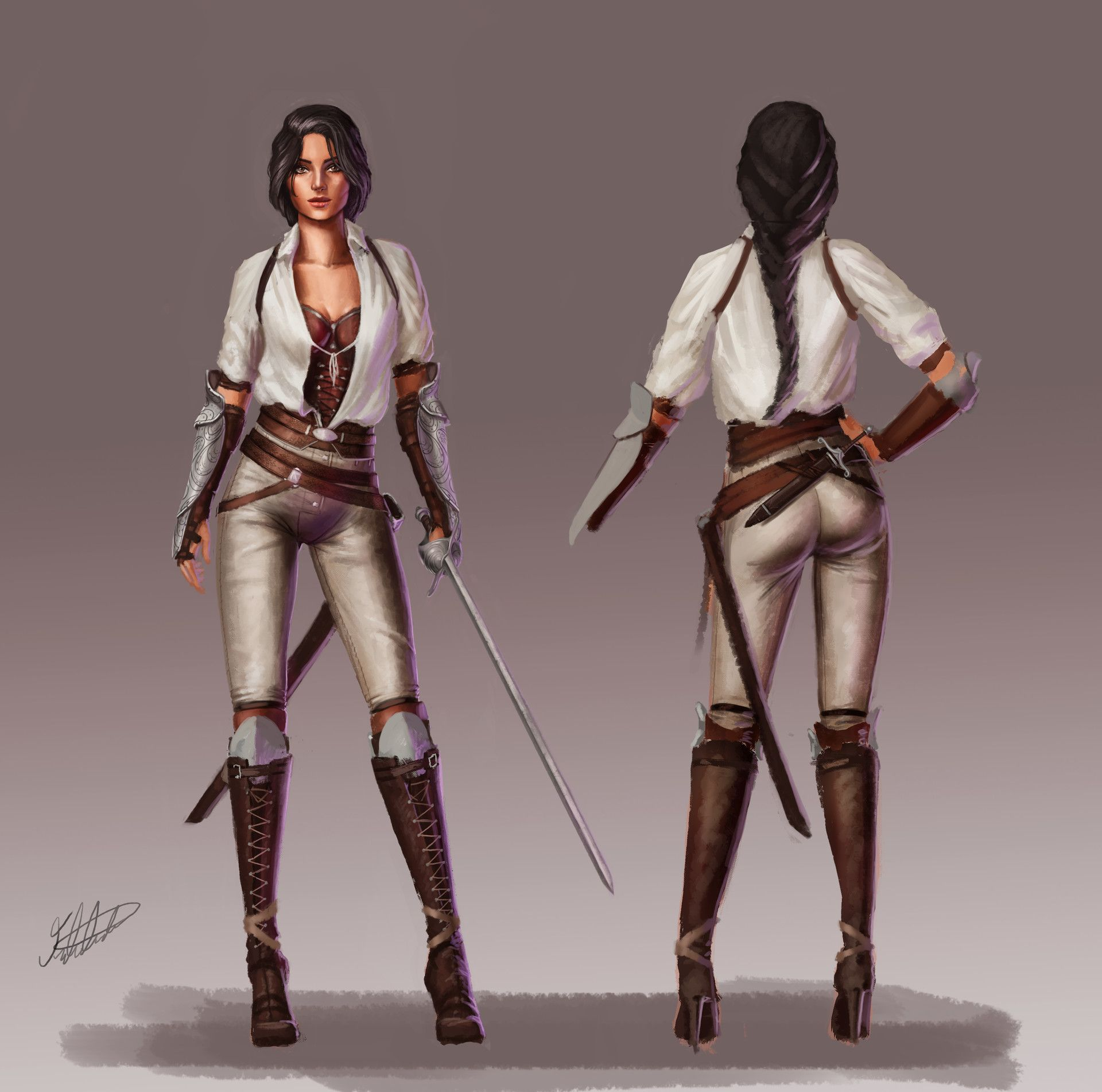 Character Design Artstation : Artstation female character design fencer fred almén