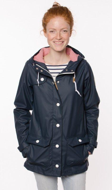39a8e66d6907fd Derbe Peninsula Fisher Blau Rot-Weiß-Gestreift Regenjacke | Fashion ...