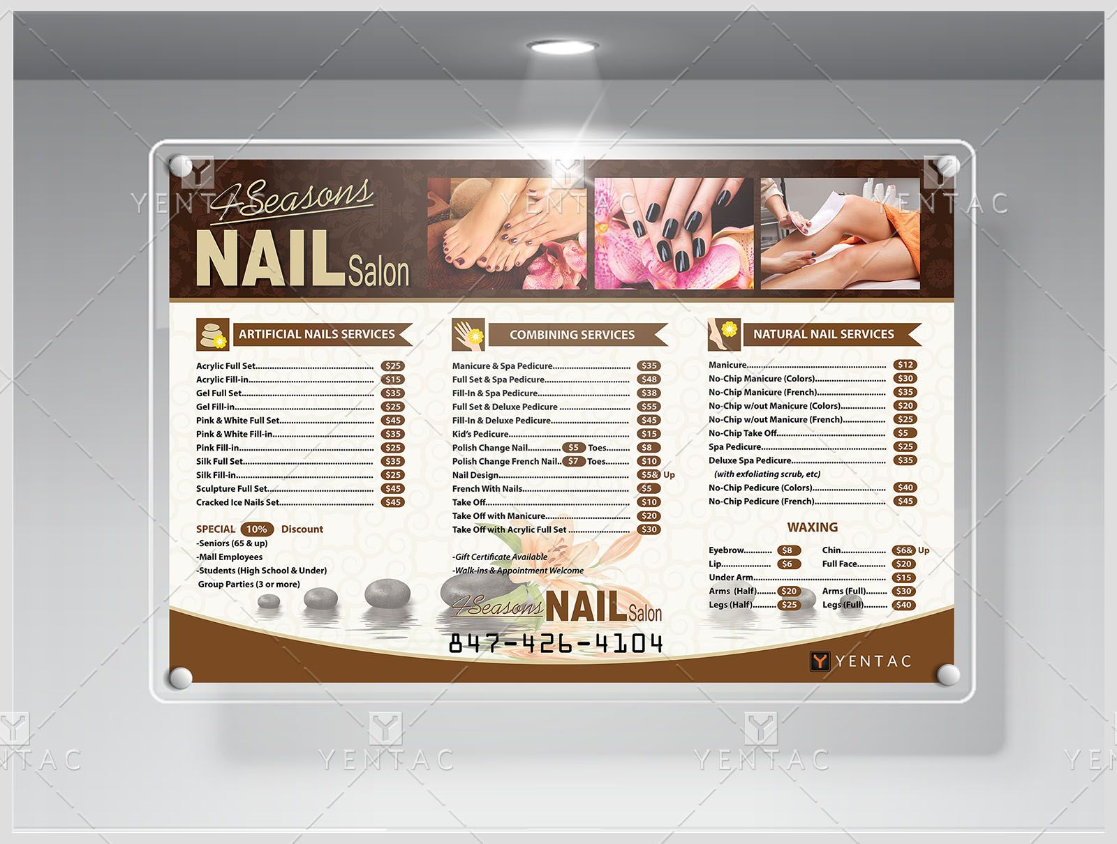 ProductSeasonsNailSalonPriceListYentac  Nail Salon