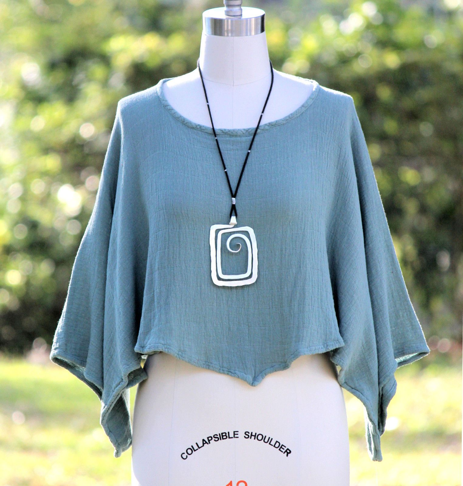 Oh My Gauze Cotton Lagenlook Poncho Over Layer   Lagenlook Passion ...
