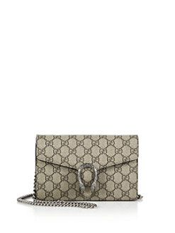 35f9d1be1c8 Gucci - Dionysus Coated Canvas Chain-Strap Wallet
