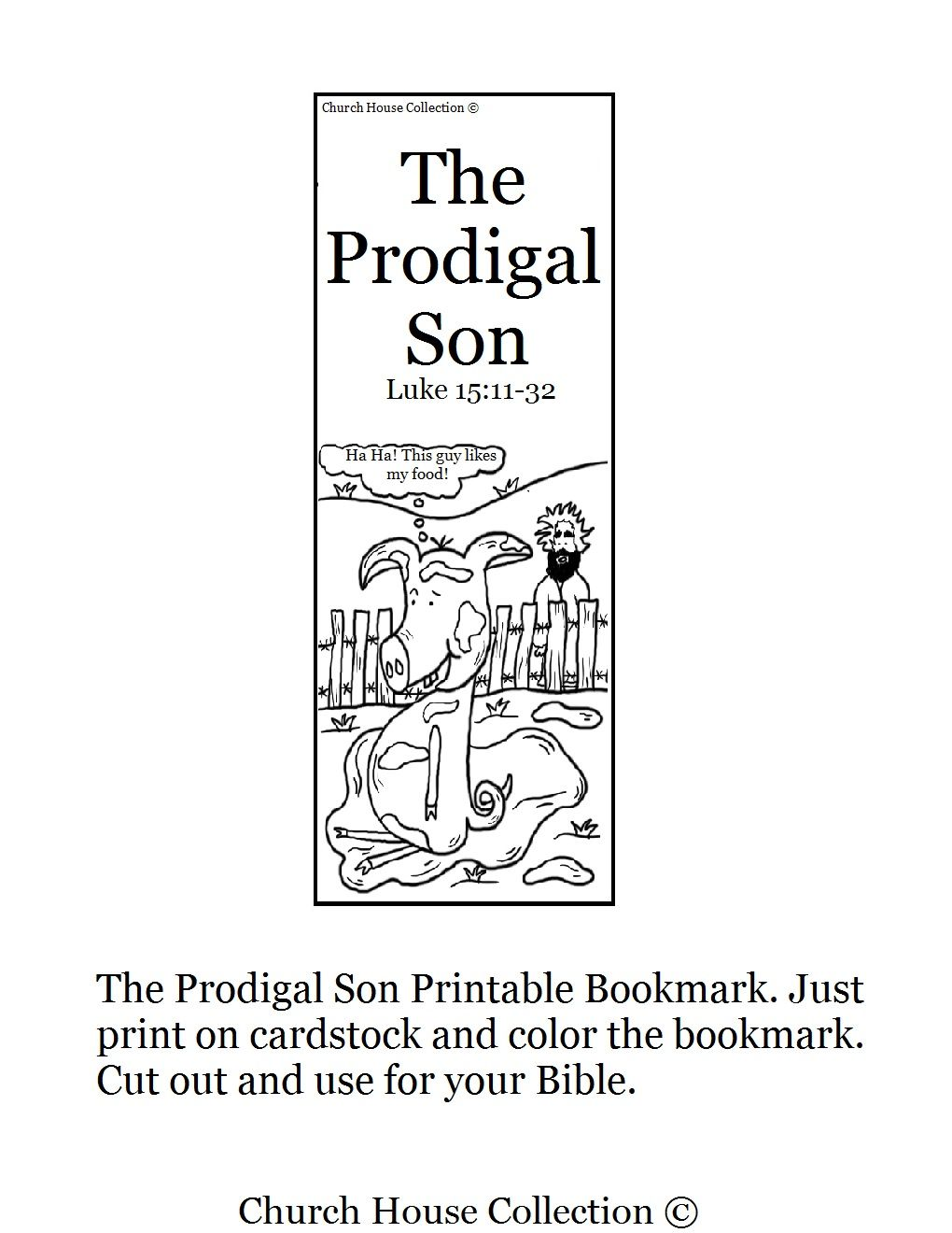 the prodigal son bookmark printable maybe just for fun
