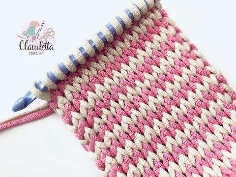 Crochet Tunisian Stitch - Design Peak #tunisiancrochet