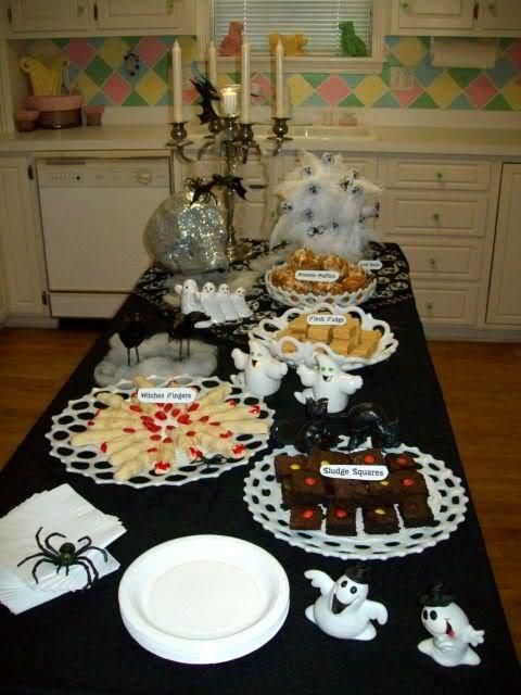 Ideas Inspirations Halloween Snack Table By Excessfroufrou