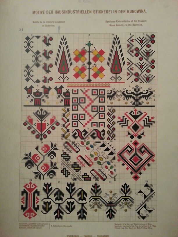 Stickerei aus Bukowina | Romanian folk embroidery | Pinterest ...