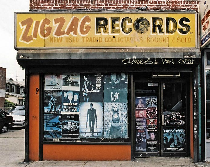 Zig Zag Records   Brooklyn, NY   Record shop signs, Store fronts, Vintage  records