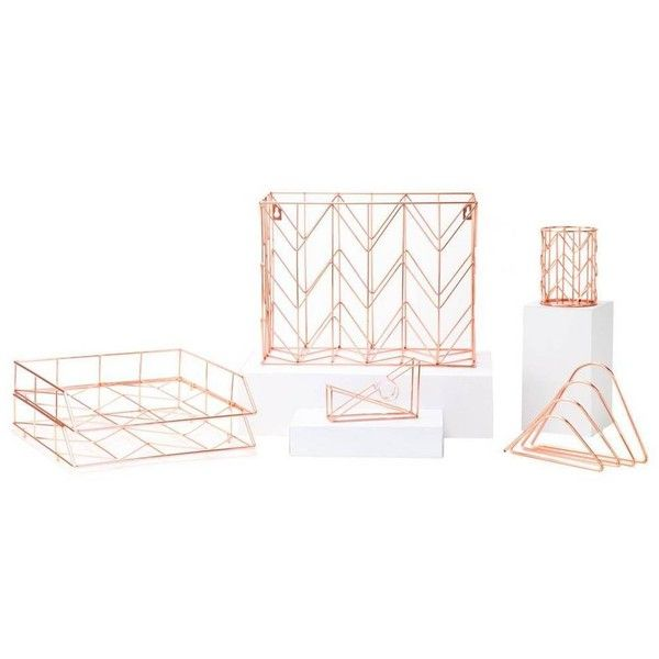 U Brands Desk Organizer  Set Of 6 Copper By 90 liked
