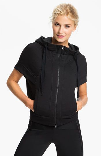 low priced 113ef 69b18 adidas by Stella McCartney  Studio  Short Sleeve Hoodie available at   Nordstrom