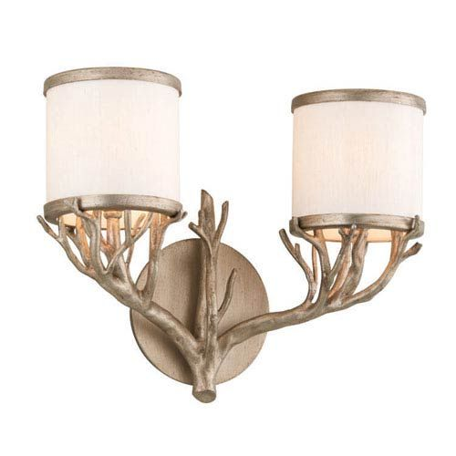 Photo of Troy B4112 Whitman two-light basin lamp in Vienna Bronze Uplight, Transitional | Bellacor