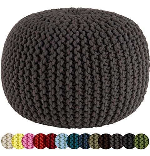 Crochet floor pouf and ottoman free patterns crochet pinterest knitting hand knitting and - Crochet pouf ottoman pattern free ...