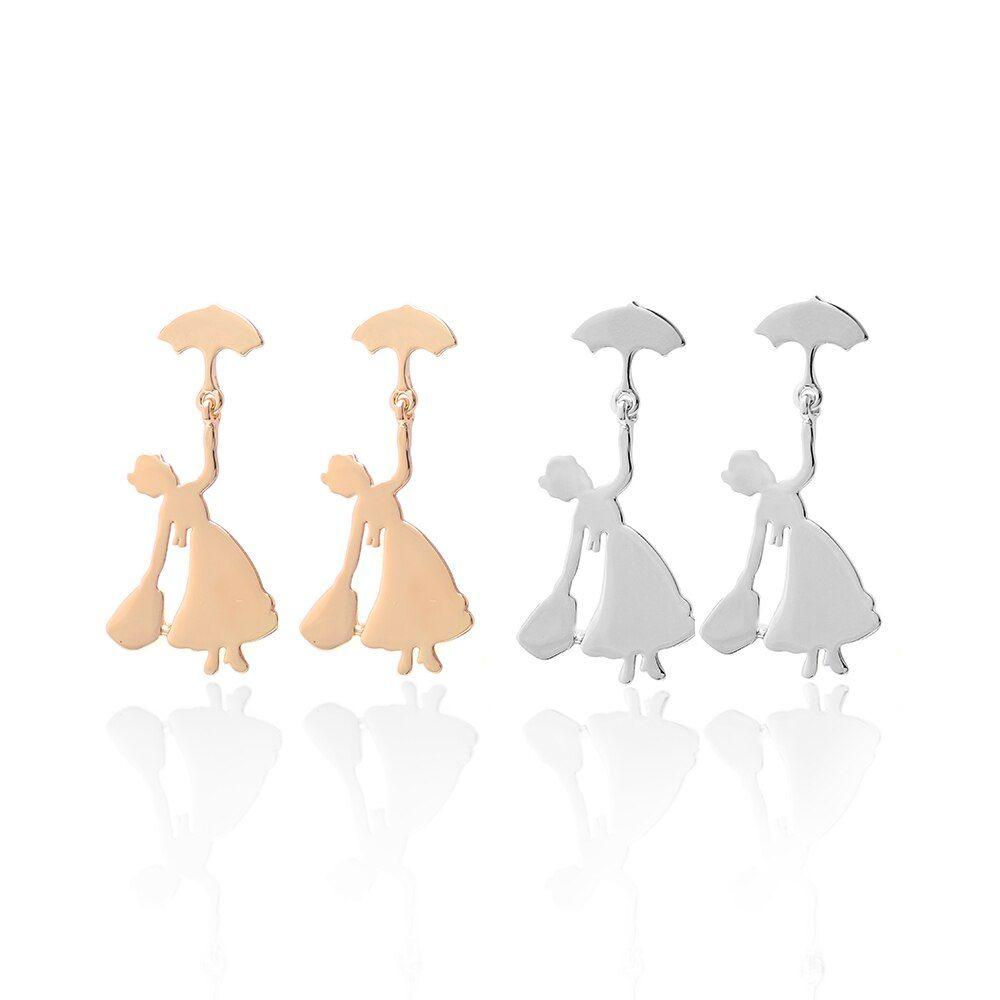 Hanreshe Earring Cute Umbrella Statement Earrings Wedding Party Jewelry Women Gold Silver Stud Earrings Women Metal Color Gold-color #cuteumbrellas