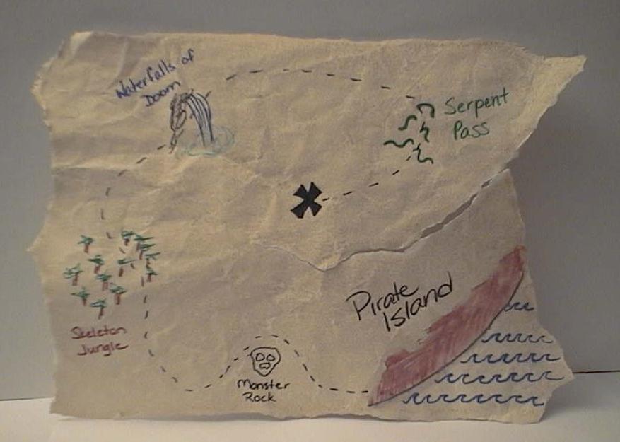 Mapa del tesoro pirata | FIESTA SIRENAS Y PIRATAS | Pinterest ...