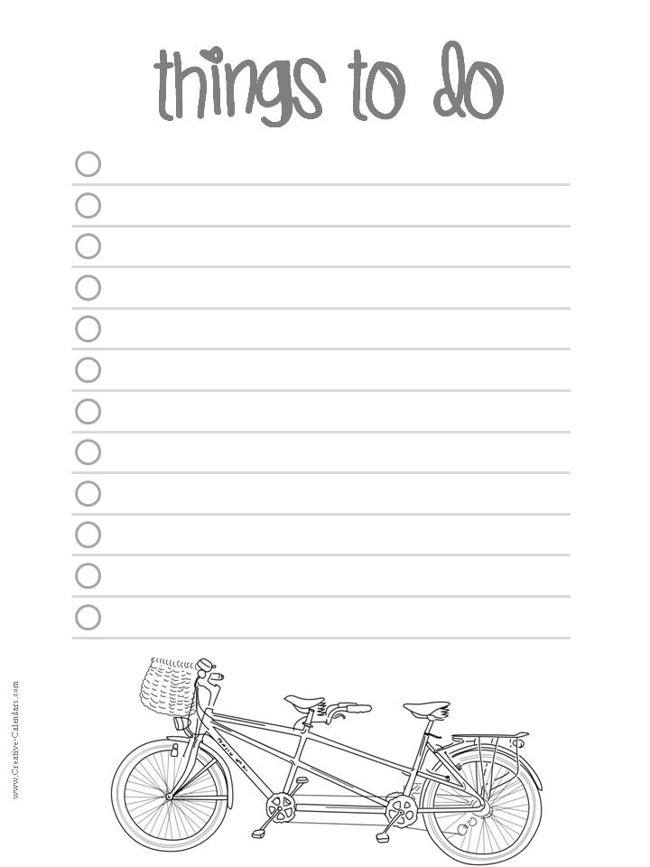 Free Printable To Do Lists 20 Free Printable Checklist Templates To Help  You Keep Track Of Your To Do List. You Can Either Print The Task List On  One Full ...  Free Printable Blank Checklist Template