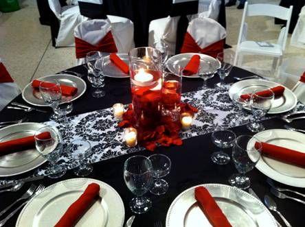 Red Black Silver Wedding Google Search