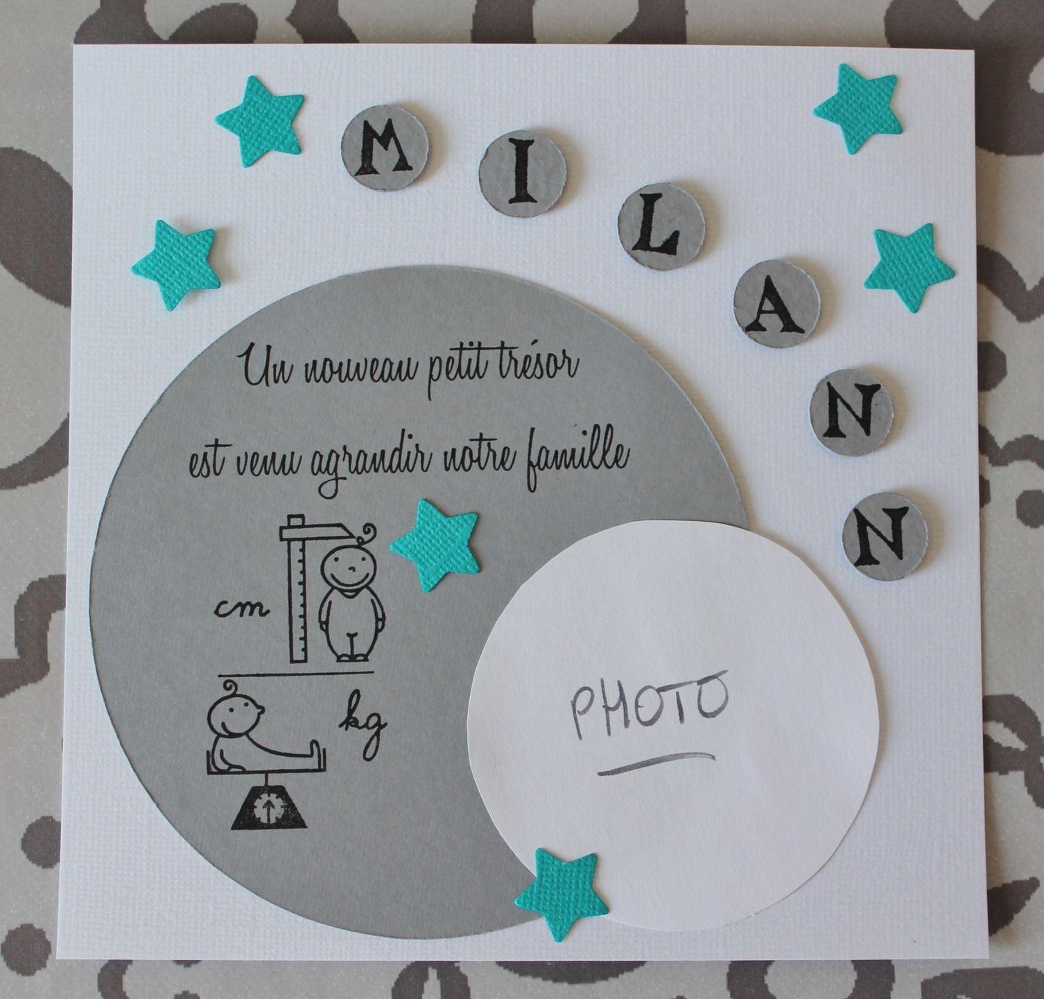 Faire Parts De Naissance Personnalisés Garçon Sur Demande Faire Part Naissance Idée De Cadeau Pour Une Amie Faire Soi Meme