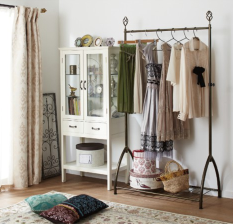 Bedroom Clothing Rack | Clothes racks, Garment racks and Dressing room