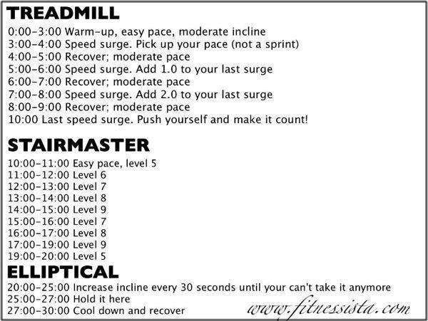 Triple Threat Cardio- treadmill, elliptical, stairmaster Home Gym