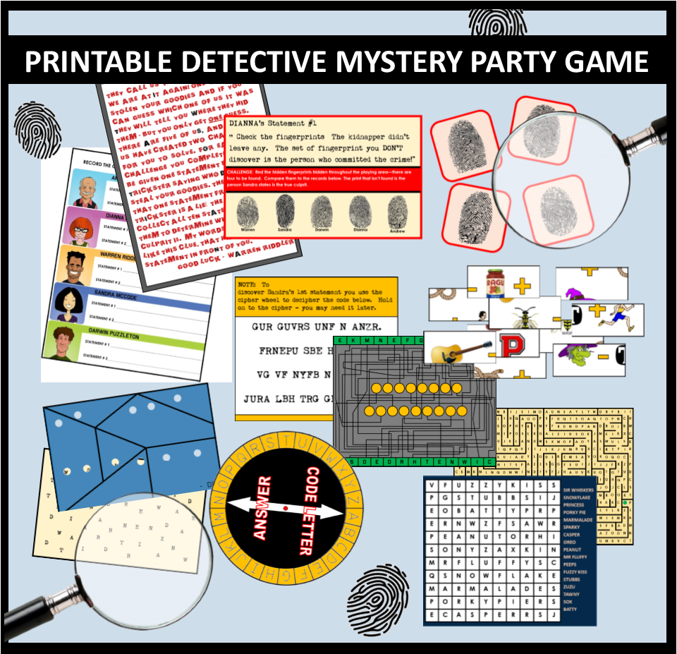 photo about Printable Detective Games called Printable Detective Top secret Occasion Match for youngsters! Spy social gathering
