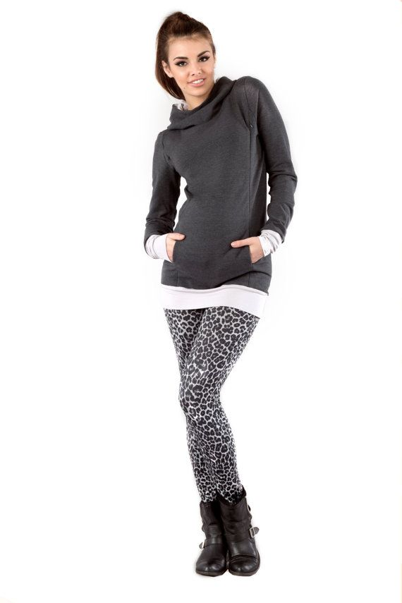 Viva la Mama   The anthracite long-sleeved nursing & maternity hoodie MALMÖ has a comfortable and long cut but is stylish and casual as well. MALMÖ makes discreet breastfeeding everywhere possible.