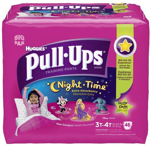Huggies Pull-Ups Night-time Training Pants Biggie Pack Size 3T-4T Girl 46ct   Your #1 Source for Baby Products