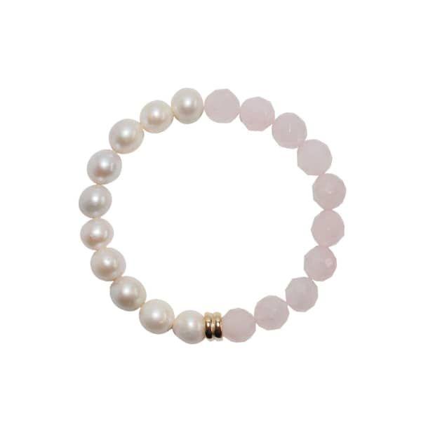 ORA Pearls 14kt Gold Orbis Pearl & Onyx Bracelet FmL3qB