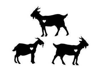 Goats Heart Svg Dxf Jpeg Png File Instant Download Stencil Monogram Frame Silhouette Cameo Cricut Clip Art Commercial Use Goat Art Tattoo Goat Farm Logo