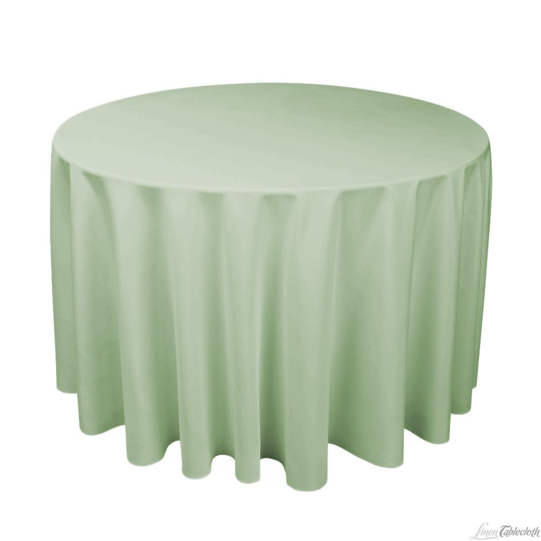 Buy 108 Inch Round Sage Polyester Tablecloth For Weddings At Linentablecloth Seamless And Machine Washable Table Table Cloth Table Linens Wedding Tablecloths