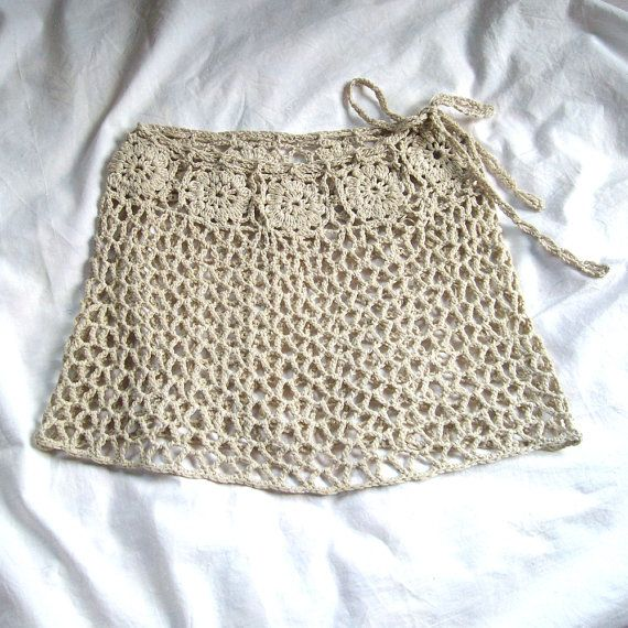 Lace beach skirt Crochet beach wrap skirt Mini by KnittedSmiles ...