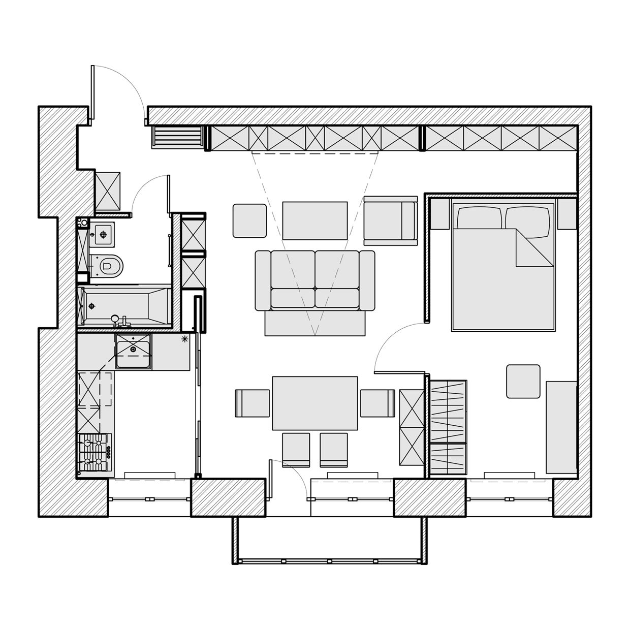 3 Beautiful Homes Under 500 Square Feet Small House Plans Bedroom House Plans House Plans