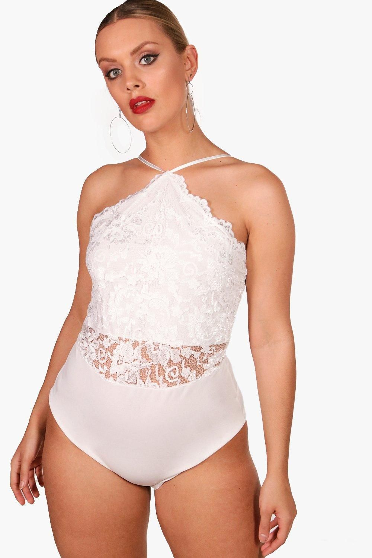 Lace bodysuit boohoo  Plus Lace Scalloped Edge Bodysuit  Tops  Pinterest  Scalloped