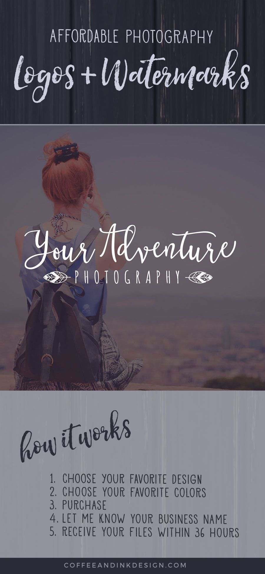 Boho Photography Logo / Bohemian Photography Logo