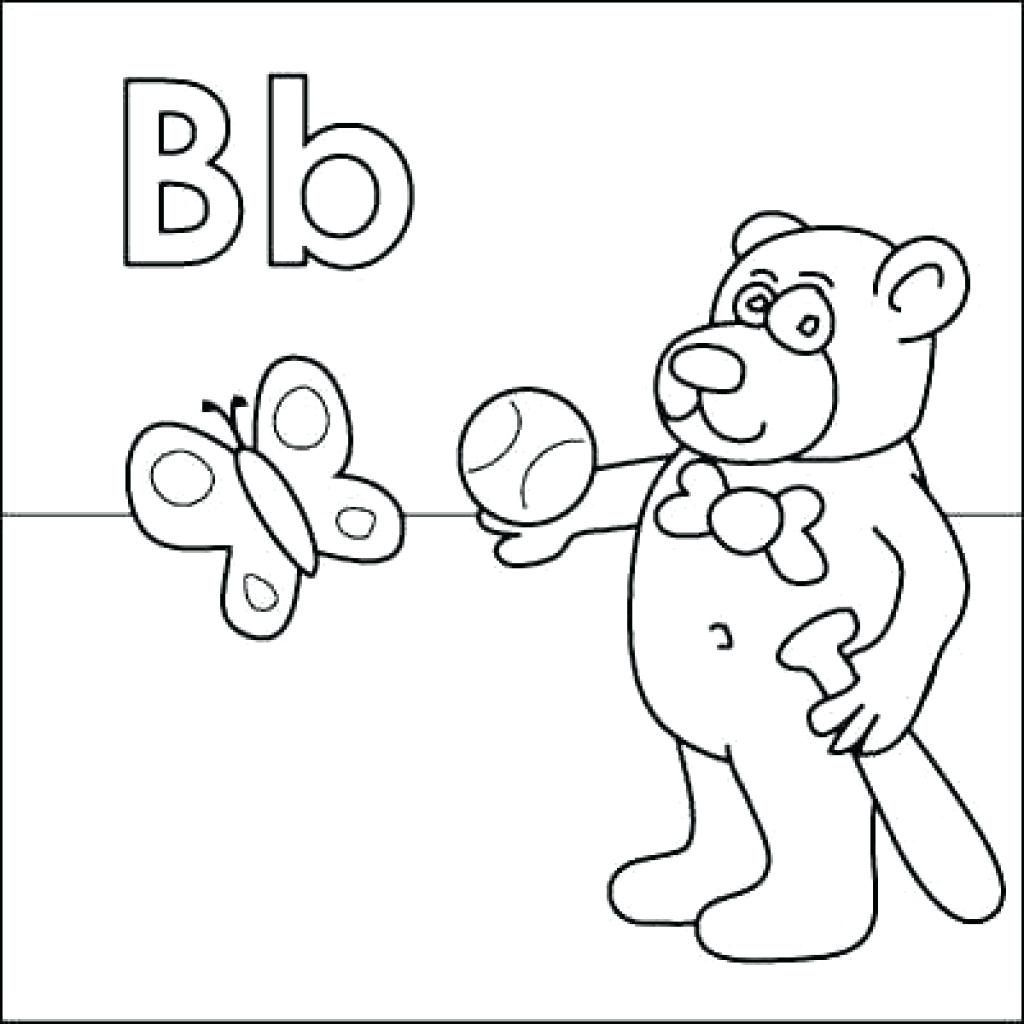 The Letter B Coloring Pages Free Alphabet Coloring Pages Letter B Coloring Pages Kindergarten Coloring Pages
