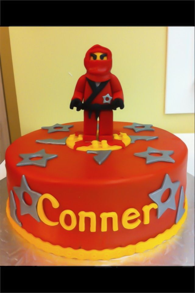 Edible Cake Images Lego Ninjago : Edible Creations Kai the Red Lego Ninjago Cake Cakes ...