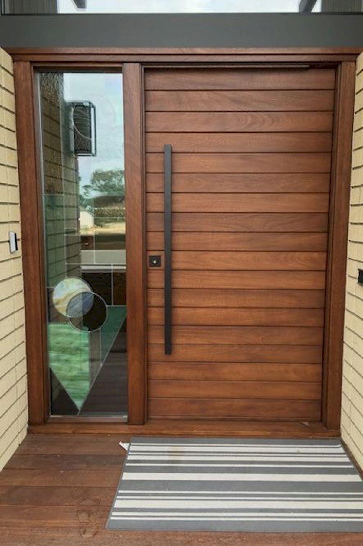 40 Awesome Minimalist Home Door Design Ideas That Look Beautiful Wood Exterior Door Home Door Design Door Design Modern