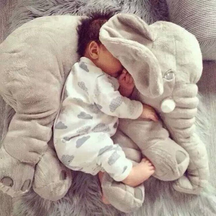 Ins Large Elephant Pillows Cushion Baby Plush Toy Stuffed Animal