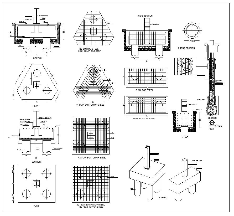 Foundation Details V2 – CAD Design   Free CAD Blocks,Drawings