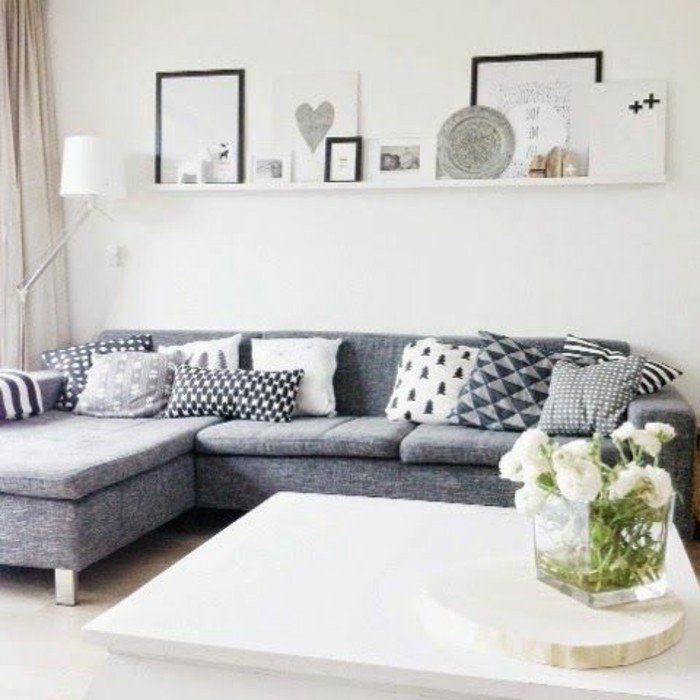 41 images de canap d angle gris qui vous inspire voyez nos propositions en photos salons. Black Bedroom Furniture Sets. Home Design Ideas