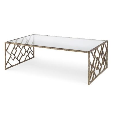 Century SF5732 Grand Tour Furniture Lattice Bronze Cocktail Table available at Hickory Park Furniture Galleries