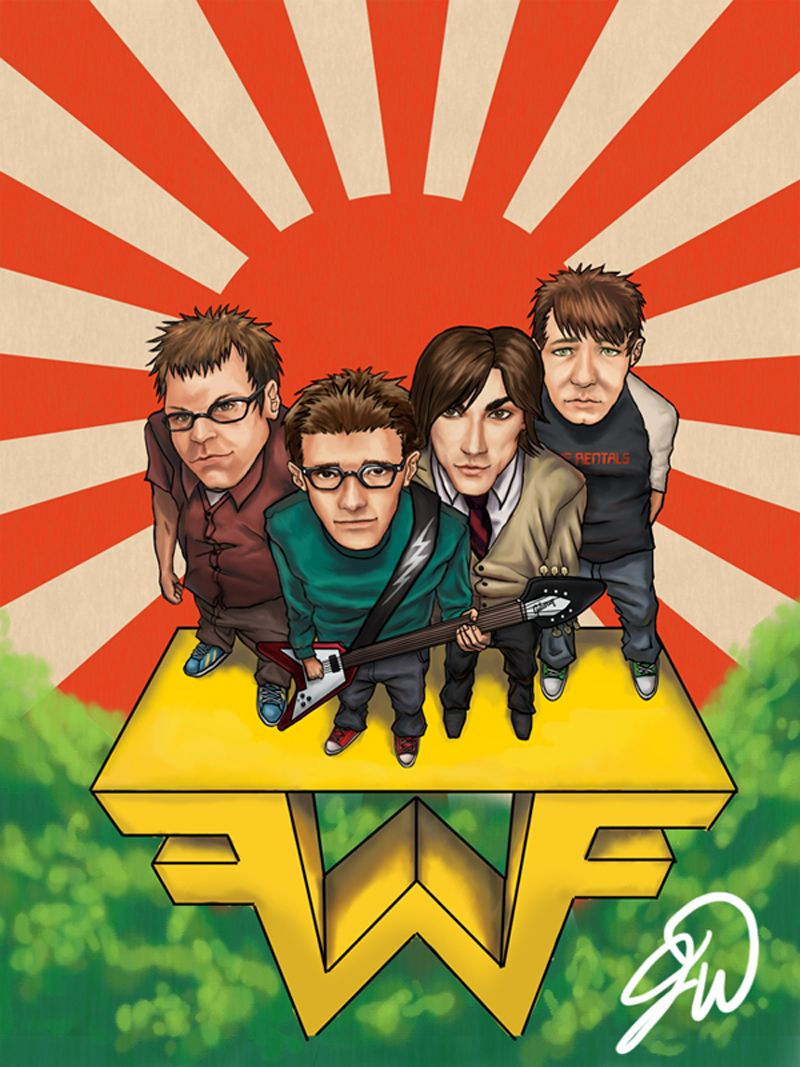 Weezer Weezer Play That Funky Music Rock Band Posters