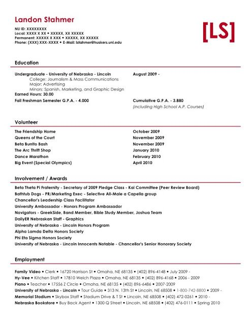 Brand Ambassador Resume Sample Sample Resumes Sample Resumes - sample resume headers