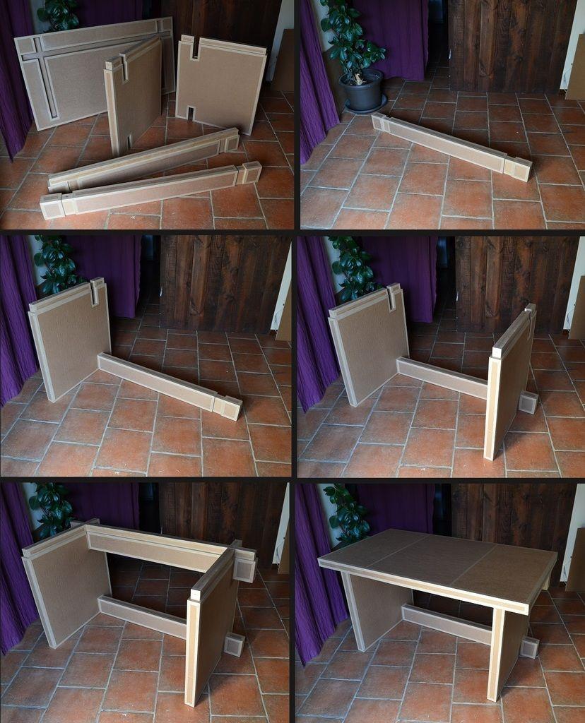 Bureau Demontable Meuble En Carton Mobilier En Carton Mobilier De Salon
