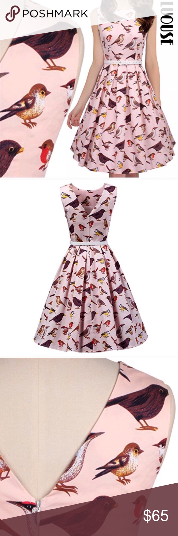 4cc138ae8d4a Luouse Vintage Inspired Rockabilly Swing Dress Luouse Vintage 1950's  Inspired Rockabilly Swing Dress ▫️Size XXL