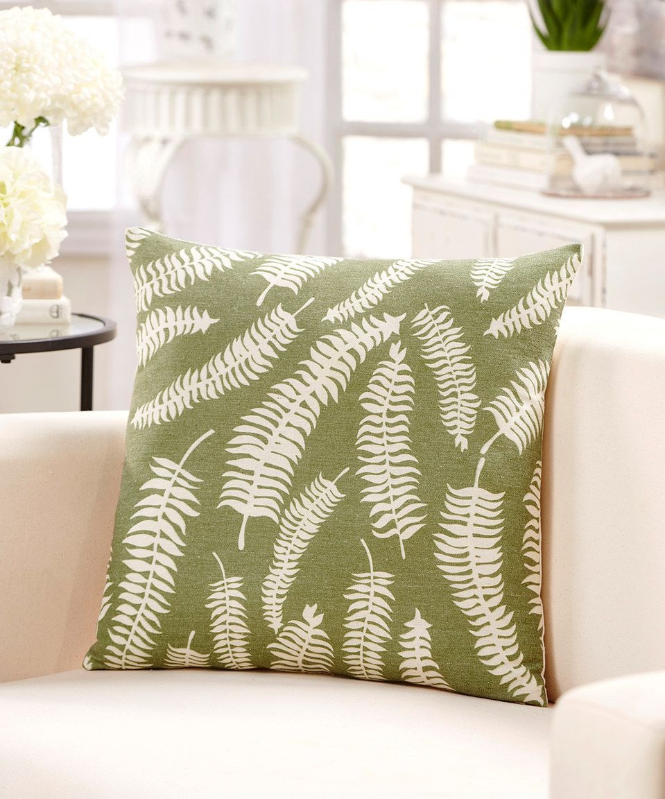 Take a look at this green u white palm leaves throw pillow today